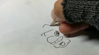 Pencil playing Mario theme while drawing a Mario cartoon!