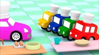 Lehrreicher Zeichentrickfilm - Die 4 kleinen Autos - Wir lernen wie man Brot backt