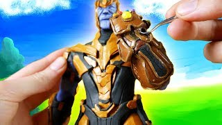 Making Thanos from Fortnite: Battle Royale l Polymer Clay Tutorial