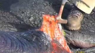 CSAV Hawaii: Sampling Molten Lava UH Hilo Geology Department