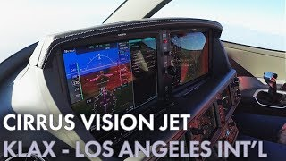 Cirrus Vision Jet - 300 Mile Straight In Final - Los Angeles International Airport