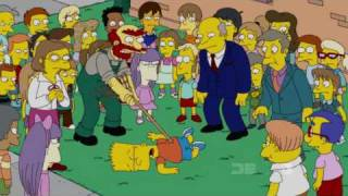 Nikki kisses Bart Simpson