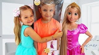 Diana and New Rapunzel doll