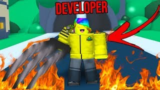 """The OWNER Joined And Gave Me DEVELOPER Rank.. """"Roblox Weapon Simulator"""""""