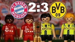 ⚽BAYERN MÜNCHEN - BORUSSIA DORTMUND 2:3 PLAYMOBIL Fussball DFB POKAL HALBFINALE Highlights