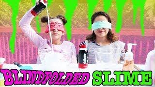 Making Slime BLINDFOLDED! Blindfolded Slime Challenge