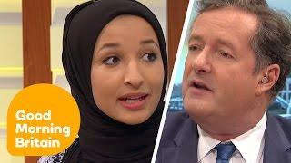 Piers Morgan Debates Headscarf Ban With Muslim Women   Good Morning Britain