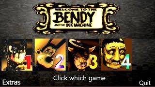 Bendy and the Ink Machine 1 2 3 4 All Jumpscares | BATIM Chapter 4