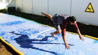DONT Slip on the Slippery Platform!! (GIANT SLIP N