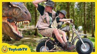 Giant Life Size T-Rex Dinosaur Adventure for Kids & New Jurassic World Fallen Kingdom Toys