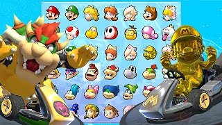 Mario Kart 8 Deluxe All Characters Unlocked and Golden Mario, Metal Mario, Bowser + More