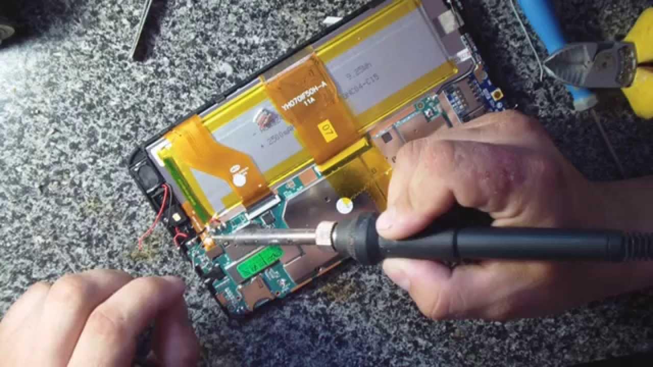 Ремонт гнезда зарядки планшета  видео