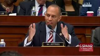 Rep.  Hakeem Jefferies questions Attorney General Jeff Sessions ability to remember things.