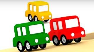 Lehrreicher Zeichentrickfilm - Die 4 kleinen Autos - Wir bringen den Spielplatz auf Vordermann