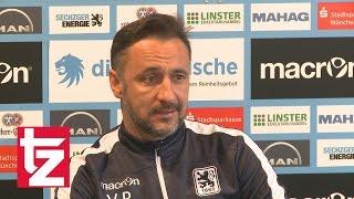TSV 1860 Cheftrainer Vitor Pereira zum Spiel gegen den VFB Stuttgart