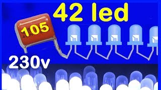 how to make led light bulb 220v, without transformer