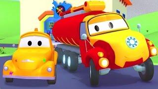 Die Lackierwerkstatt von Tom dem Abschleppwagen : Tyson Iron man | Lastwagen Cartoons für Kinder