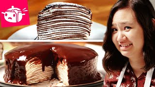 I Tried To Make This Chocolate Crepe Cake