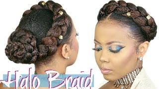 HOW TO | FAUX HALO BRAID TUTORIAL| CROWN BRAID W/ KANEKALON HAIR| 4C NATURAL HAIRSTYLE | TASTEPINK