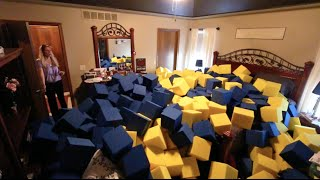 CRAZY INDOOR FOAM PIT PRANK!