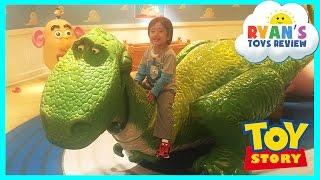 GIANT DISNEY TOY STORY Kids Playroom Mr Potato Head Family Fun Children PlayCenter Ryan ToysReview