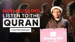 Americans keenly listen to the recitation of QURAN | ألامريكيون يستمعون إلى تلاوة القرآن