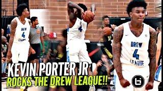 Kevin Porter Jr ROCKS LA & The Drew League in Debut! Getting BUCKETS vs Grown Men!