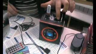 Китайская колонка MA-19 с USB microSD FM AUX - YT.PAK3.COM Free You Tube in Pakistan