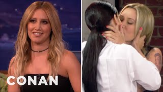 """Ashley Tisdale Cast Her Girl Crush On """"Young & Hungry""""  - CONAN on TBS"""