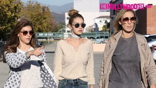 Gigi Hadid Has Lunch With Family & Hits The Nail Salon In Beverly Hills 11.17.15