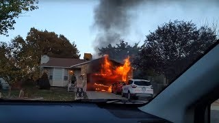 House fire in West Jordan, Utah - 10/12/2017