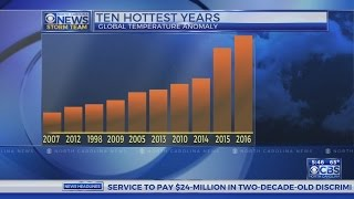2016 hottest year on record, third record-high year in a row