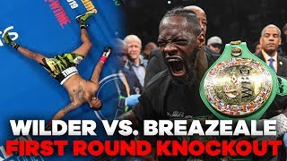 Deontay Wilder MASSIVE Knockout Punch   Wilder vs. Breazeale Highlights