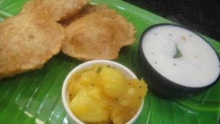 Poori Masala And Curd Rice In Tamil | Lunch Box Recipe | Cooking Tips In Tamil | Gowri Samayalarai