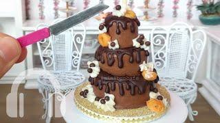 Mini Chocolate drip cake! Mini food, real edible mini cake