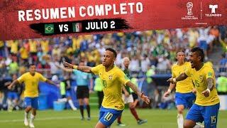 Brasil vs México: Resumen Completo Julio 2 | Copa Mundial FIFA Rusia 2018 | Telemundo