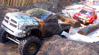 3 TRUCKS GET MUDDY! FiRST TiME ON COURSE as a FAMiLY! #ProudParenting   RC ADVENTURES