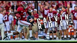 Calvin Ridley runs 78 yards for a touchdown and celebrates in the end zone