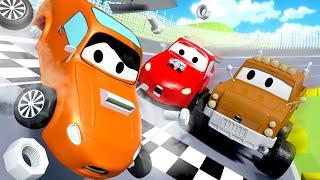 Der Rennunfall - Tom der Abschleppwagen in Car City 🚗 Cartoons für Kinder