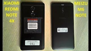 Xiaomi Redmi Note 4X и Meizu M6 Note - сравнение