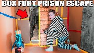 24 HOUR BOX FORT PRISON ESCAPE ROOM!! 📦🚔 Top Secret Passage To Escape!