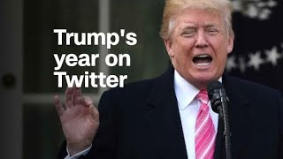 How Twitter defined the first year of Trump