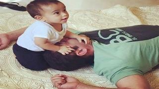 Salman Khan Playing With Ahil