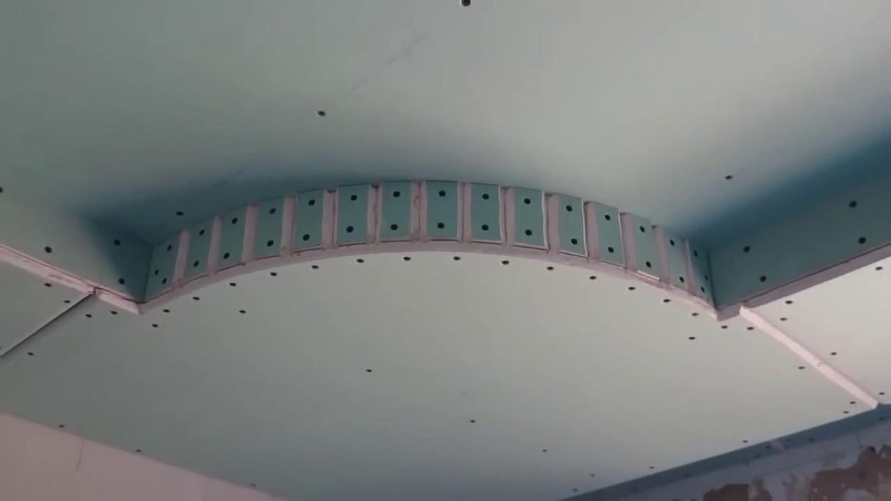 Потолок гипсокартона  видео