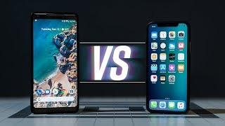 iPhone X vs Pixel 2 XL: We