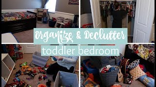 ORGANIZE & DECLUTTER TODDLERS ROOM \\ ORGANIZING KIDS TOYS AND CLOSET