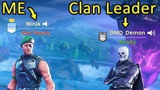 I Tried Out For A Fortnite Clan As Ninja...