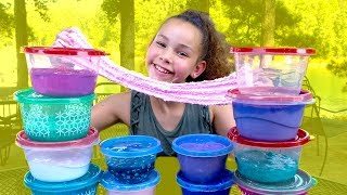 Huge Slime Collection Review! (Haschak Sisters)