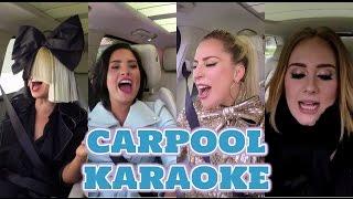 Adele vs Lady gaga vs Demi lovato vs Sia | Vocal Battle - Carpool karaoke Versión -