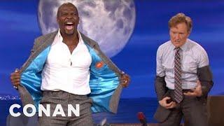 Terry Crews Makes Conan Pull A Man Booby - CONAN on TBS